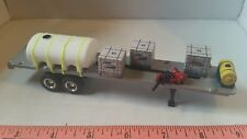 1/64 ERTL farm toy custom 42' sprayer chemical water trailer loaded flatbed wh