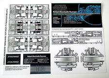 STAR WARS DIE CUT REPLACEMENT STICKERS for Lego 10019 REBEL BLOCKADE RUNNER +++