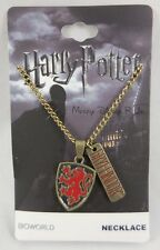 New Harry Potter House Of Gryffindor Crest Logo Pendant With Charm Necklace