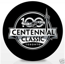 2017 Centennial Classic Souvenir Puck Toronto Maple Leafs vs Detrot Red Wings