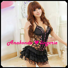Jane Sexy SLEEPWEAR Lingerie Sex Toy Woman Lace BLACK Dress HOT Babydoll Party