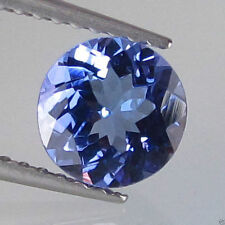 RARE 4mm ROUND-FACET STUNNING PURPLE/BLUE NATURAL TANZANITE GEMSTONE