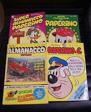 Lotto n° 4 fumetti Disney - Almanacco - Topolino - Paperino