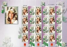 ISRAEL 2014 GREAT ACTRESS FARRAH FAWCETT SHEET MNH