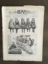 """""""THE GRAPHIC"""" (A Beautifully Illustrated British Weekly Newspaper)-Mar 16, 1889"""