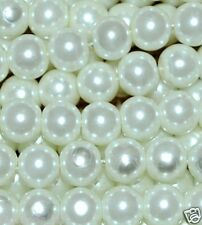 A string round glass pearl beads 4mm 200pcs, 6mm 150pcs, 8mm 100pcs, 10mm 80pcs