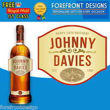 Personalised Southern Whiskey Bottle Label, Perfect Birthday Gift