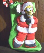NEW WITH TAG HOMER SIMPSON THE SIMPSONS CHRISTMAS 3D STOCKING 19 INCHES