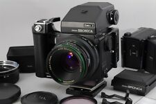 【Exc+++++】Bronica ETR-S w/75mm f/2.8 Lens w/Speed Grip w/120,135,220 Magazine
