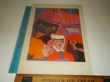 Rare Original VTG 1929 Rabelais Women Bosschère Illustration Art Print