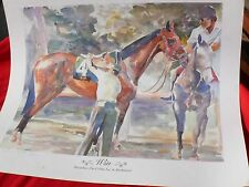 1986 Limited Edition 91/300 Sign Print WIN By COLIN COOTS Race Horse BUCKPASSE