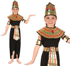 Childrens Egyptian Queen Fancy Dress Costume Egypt Cleopatra Outfit Girls Kids M