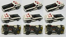 3pc 1976 Aurora AFX G+ Smokie's POLICE VEGA Slot Car Screecher Magna-steer 5781