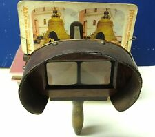 Early 1870's Walnut? Bates Styled Stereoscope Stereoviewer Stereo Viewer (470)