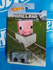 Hot Wheels 2016 MINECRAFT Minecart Special Release Board PIG Target Exclusive