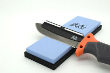 Genuine Blue 600px Wet Stone With Ceramic Sharpening Guide Bushcraft  Survival