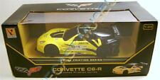 CHEVY CORVETTE C6R YELLOW LICENSE FRICTION SERIES GUOKAI 1:24 SCALE RARE