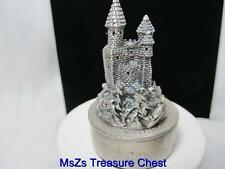 Pewter Castle Trinket Box with Red Valor Interior  ** New, Includes Gift Box **