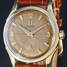 VINTAGE 1950s OMEGA WATCH WITH TROPICAL HONEYCOMB CROSSHAIR DIAL