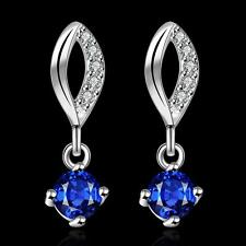 Mother's day Gifts Fashion Elegant 925 sterling silver Ruby Drop Earrings E507