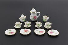 Lot of 15 Porcelain  Puppenhaus Miniature Coffee Tea Cup Set a flower
