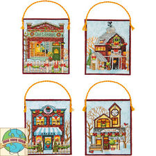 Cross Stitch Kit ~ Dimensions Winter Village Christmas Ornaments (4) #70-08954