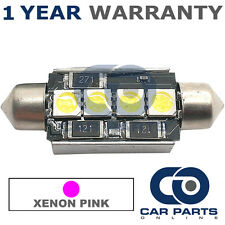 1X PINK CANBUS NUMBER PLATE INTERIOR 3 SUPER BRIGHT SMD LED BULBS 42MM 09PX1