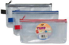Tuff Bag DL Size Waterproof Wallet Strong Pencil Travel Zip Case Trendy 301338