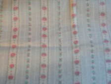 Cotton Flannel Traditional Print (1/3Yard)  Ribbon Floral soft blue,white, pink