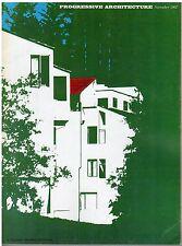 rivista - PROGRESSIVE ARCHITECTURE ANNO 1967 NUMERO 11