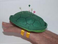 Job Lot of 100 Pin Needle Cushions plush tortoise shell turtle Green, wearable