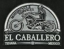 EL CABALLERO DE LA MUERTE MOTORCYCLE SERVICE TIJUANA MEXICO BIKER PATCH