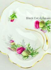Royal Albert Highland Thistle Leaf shaped Divided Tray with Handle -England