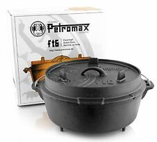 Petromax ft6 Feuertopf Dutch Oven Gusseiserner Topf Camping Outdoor Gusseisen