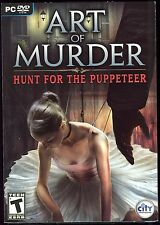 Art of Murder Hunt for the Puppeteer PC Video Game New & Sealed w/ Slipcover