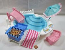 New FISHER PRICE Loving Family Dream Dollhouse COMPLETE SWIMMING POOL '95 No Box