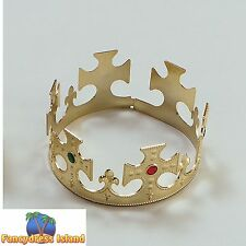 ROYAL KING QUEEN REGAL GOLD CROWN GAME OF THRONES mens ladies fancy dress