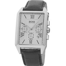 **NEW** MENS HUGO BOSS BLACK CLASSIC CHRONO LEATHER  WATCH - 1512577 - RRP £259