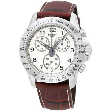 Tissot V8 Beige Dial Chronograph Leather Strap Men's Watch T1064171626200