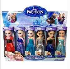 6pcs elsa=anna Frozen Princess Figures Kids Children Baby Girl Playset Doll Toy=