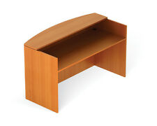 Contemporary Reception Desk in American Cherry Finish with a Set of Drawers