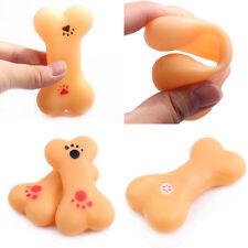 Neu Hunde Spielzeug Gummi Knochen Bone Kauen Quietscher Klingen Hundespielzeug