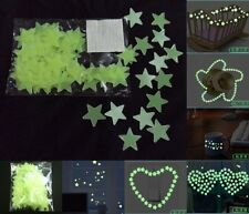 Baby Bedroom PVC Wall Ceiling Glow In The Dark Art Sticker Home Decoration Green