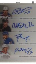 2013-14 NHL autograph fours Richards St.Louis McILRATH McDonagh New York Rangers