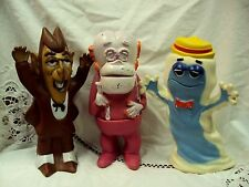 Vtg Lot/3 G MILLS Advertising Vinyl Toys COUNT CHOCULA / BOOBERRY / FRANKENBERRY