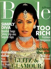 Bride & Home Magazine January/February 2001 India Fashion Diva Rich Bindi