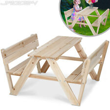 Children Kids Outdoor Furniture Wood Play Picnic Table Bench Set Garden Patio