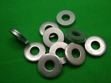 Extra thick flat spacer washers, steel, M8, 4mm thick, pack of 10, zinc plated