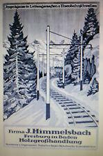 J.Himmelsbach Holz Freiburg Eisenbahn-Schwellen Große Werbeanzeige 1925 Reklame