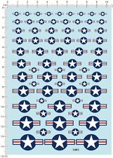 decals USA Military Aircraft Insignia for different scales model kits 1461